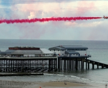 The Red Arrows at Cromer, north Norfolk