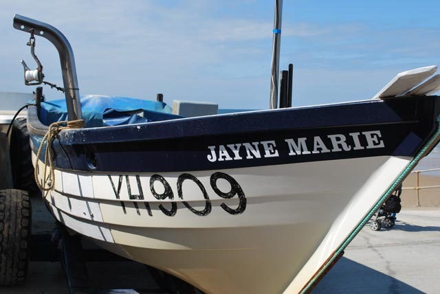 The Jayne Marie fishing boat, Overstrand, Norfolk