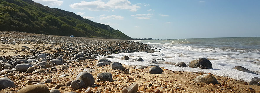Overtsrand beach, towards Cromer